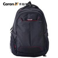 2014 FREE SHIPPING Commercial trend black computer insert bag double-shoulder student bag  knapsack
