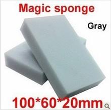 Free Shipping 20 pcs/lot Wholesale Gray Magic Sponge Eraser Melamine Cleaner,multi-functional Cleaning 100x60x20mm(China (Mainland))