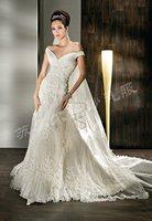 Senior wedding noble wedding dress customize wedding dress royal train lace wedding dress