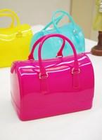 New brand, 2013 ice cream candy bag jelly bag transparent bag handbag  ,star loves Jelly color shoulder bags,tote bag