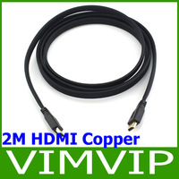 2M HDMI Cable Gold Plated Connection V1.4 HD 1080P Free Shipping