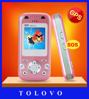 Free shipping kids mobile phone, kids cell phone with GPS tracking, SOS emergency, Safe firewall, Mum&Dad buttons, Torch