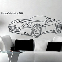 Free Shipping  Wall stickers Home Garden Wall Decor Vinyl Removable Art Mural Home decor Famous sports car  M-376