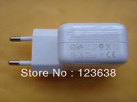 Free shipping+1 sample,wihte New 10W USB Power Charger Adapter for iPad 1 iPad 2 iPad 3 iphone 4s ipod EU plug