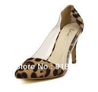 Sexy Sandals Shoes Leopard Women Summer Shoes Pumps Shoes Free Shipping