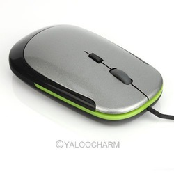 1pcs New Arrival Ultra Thin USB Optical Scroll Wheel Wired Super Slim Mouse/Mice for Laptop PC 80470(China (Mainland))