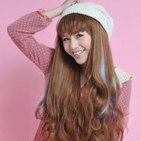 Flower gradient multicolour piece gradient color hair extension tablets HARAJUKU fashion
