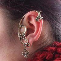 Gothic Punk Flower Ear Cuff Women Stub Earrings Cheap Best-selling Earrings Free Shipping 24pcs/lot  0406059