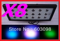 8pcs 18X4W 3IN1 LED Wash Light Tri LED Washer DMX Stage Lighting RGB 3in1 LED Waterproof IP65