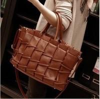 Free shipping--2014 New Retro knit folds ladies hand bag,shoulder tote bags,women handbag,women fur brand female vintage bag