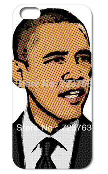 10PCS/Lot THE President  Barack Obama Hard Back Cover Case Skin for iPHONE 5 5s 5G 5TH Mobile Cell Phone Free Shipping