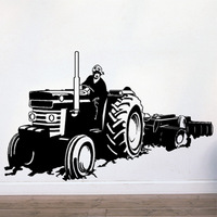 Free Shipping  Wall stickers Home Garden Wall Decor Vinyl Removable Art Mural Home decor Tractor T-35