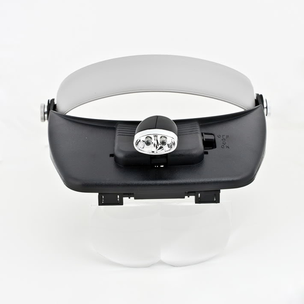 2 LED Light Head Glass Jewellery Magnifying Magnifier(China (Mainland))