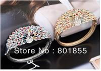 Min.order is $10 (mix order) Free shipping Colorful Peacock Bangle Bracelet Bohemia seaside wind Luxury Cuff Bracelet