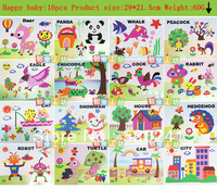Children's handmade EVA three-dimensional 3D sticker / creative paste Children's DIY toys / baby toys/children's gift