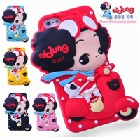 3D Stereo Cartoon Cute  DDung Baby Doll Silicone Case For iPhone 4G 4S 5G Soft Cover Wholesale 20pcs/Lot DHL Free Shipping