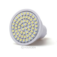 High Power 1pc/Lot 60 LED 3528 SMD GU10 Warm/Day White Light Bulbs Bright AC 220V Energy Saving