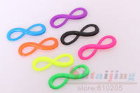 Wholesales 2.4*0.8cm Neon Color Mix colors 8 Infinity Charms Small Size Jewelry findings
