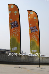 good quality double sides beach flag, two sides feather flag, both sides teardrop flag(China (Mainland))