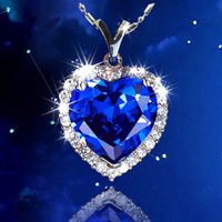 Foreign trade crystal necklace collarbone chain star of Titanic as navy ocean star pendant