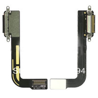 Free Shipping for ipad 3  Dock Connector Charging Port Flex Cable Ribbon  Spare Repair Parts Replacement 100%original