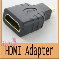 500pcs/lot Wholesale Micro HDMI Male to HDMI Female Adapter for Phone camera HD TV DVD adapter Converter Free shipping by DHL