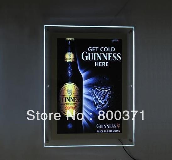 Acrílico levou placa do menu A2 tamanho fixado na parede placa do menu(China (Mainland))