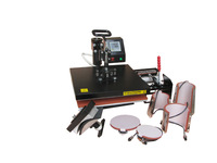 shipping free,8 IN 1 Tshirt/Mug/Cap/Plate Combo heat press machine,Heat press,Sublimation machine,Heat transfer machine