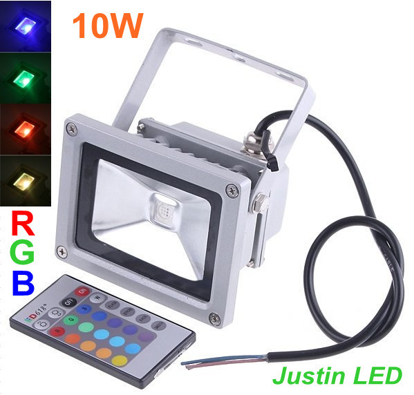 10W Waterproof Floodlight Landscape Lamp RGB LED Flood Light Outdoor LED Flood Lamp Free Shipping 2pcs/lot(China (Mainland))