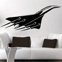 Free Shipping  High quality Carved(not print) wall decor decals home stickers art PVC vinyl Fighter z-68