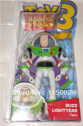 7 inch Toy Story 3 Buzz Lightyear POSABLE FIGURE New In Box(China (Mainland))