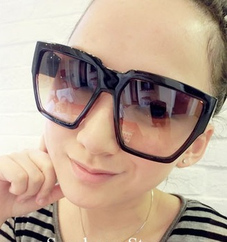 Star style women's sunglasses vintage fashion big frame sunglasses anti-uv glasses sun glasses