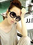 Glasses vintage sunglasses circle glasses round glasses round box sunglasses star style