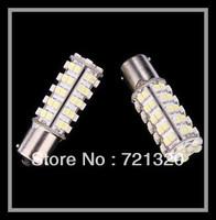 Powerful DC 12V White Stop tail Car bulb Brake Light Rear Lamp 2x 68 LED 3528 SMD 1156 BA15S 2705 led
