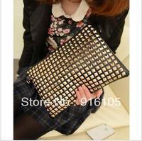 2013 New Europe and the United States punk rivet envelope handbag,Single shoulder slope across packets,Z-226 Free shipping