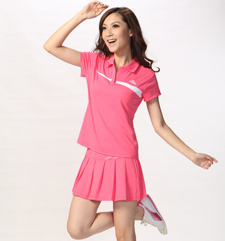 Badminton badminton clothing sportswear sports culottes short-sleeve set women's sports tennis ball dress