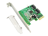 IOCREST 2-port SATA III (6G) PCI-e Controller Card, Marvell 88SE9120 Chipset,Free Low