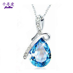 Crystal necklace female short design chain accessories drop necklace girlfriend gifts