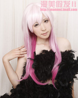 K Neko Long Purple Mix Pink Cosplay Party Fashion Wig NO.21