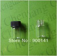 Clear 15*27MM 2ml glass vial with screw plastic cap, 5/8 dram glass vials, glass bottles, 144pcs