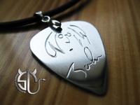 Free shipping   John Lennon the beatles stainless steel handmade pick necklace for men women