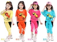 Free shipping summer girls the new lantern sleeve harem pants two-piece Korean version of the package