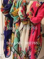 free shipping+Big square feather print beach scarf/fashion big flower shawls/muslim floral head scarf100*140cm