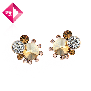 NEOGLORY Jewelry fashion women an stone crystal stud earring elegant crystal female(China (Mainland))