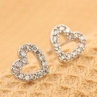 hot selling 2014  Small accessories love small stud earring female earrings accessories all-match heart 1008
