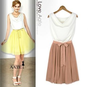 2013 summer women's plus size basic skirt summer new arrival slim one-piece dress sleeveless