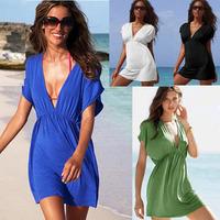 European versionof  V-neck bikini vacation beach dress/ sexy swimwear