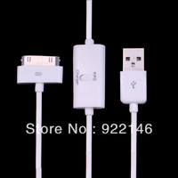 2pcs USB Data Sync Charging Cable from PC Directly for iphone 3gs 4 4s ipod  black  white Random delivery
