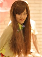 Repair 2013 natural fashion girls oblique bangs broken corn wig hot 0027