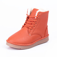 Elevator fashion martin boots fashion platform boots lacing thermal snow boots
